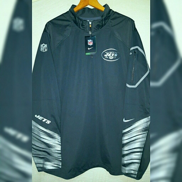 differently a1552 1e60e Nike Fly Rush Platinum NFL NY Jets Jacket 2XL, XL NWT